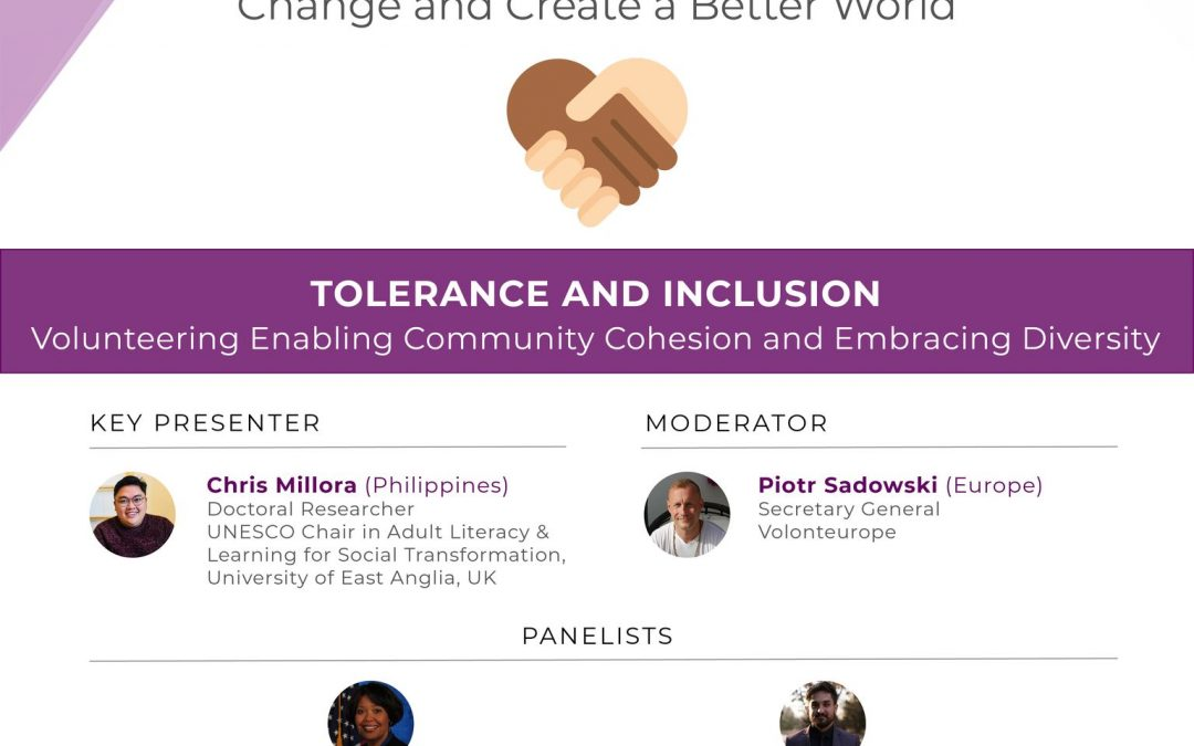 Tolerance and Inclusion – Volunteering Enabling Community Cohesion and Embracing Diversity