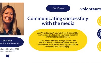 Training webinar on communicating successfully with the media