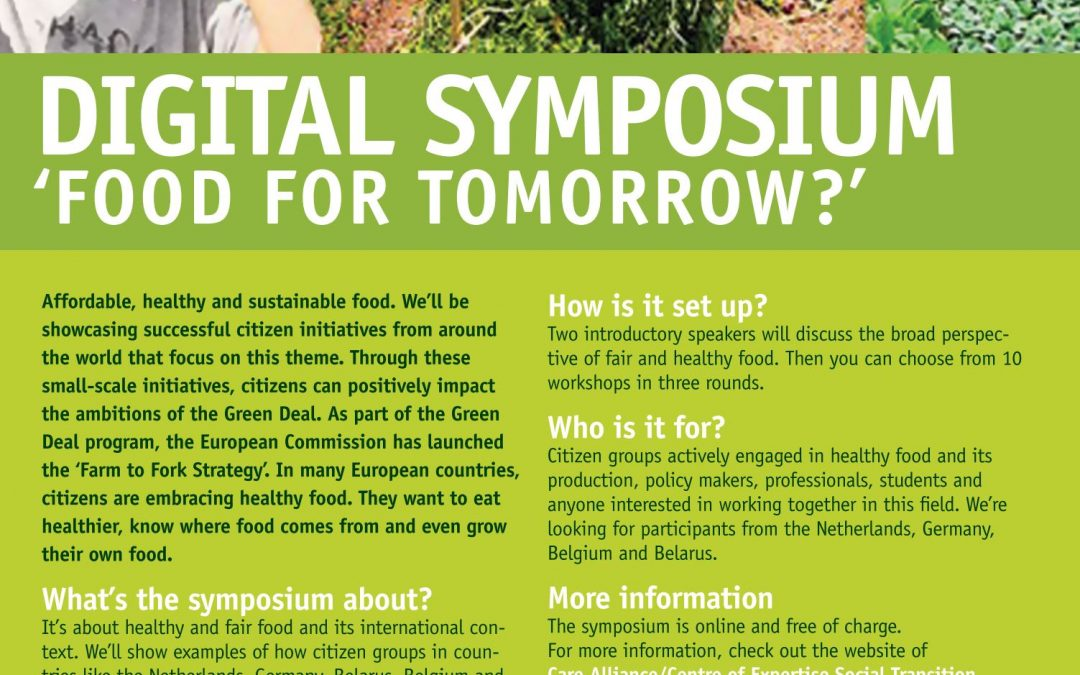 Member update: 'Digital Symposium: Food for Tomorrow?'