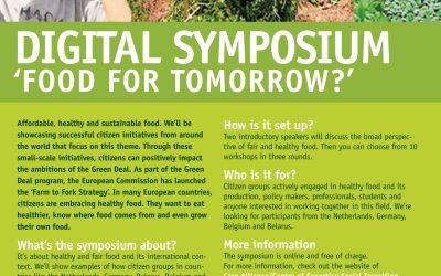 Member update: 'Digital Symposium: Food for Tomorrow?'